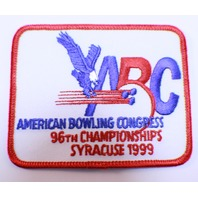 Bowling Uniform Patch High ABC 96h Championships Syracuse 1999