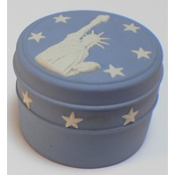 Wedgewood Jasperware Statue Of Liberty Musical New York Trinket Box With Bling