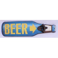 Beer Open Here Wall Mount Bottle Opener Man Cave Bar Decor Wall Plaque