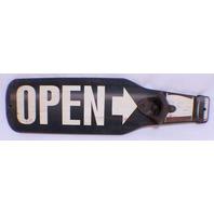 Open Directional Arrow Wall Mount Bottle Opener Man Cave Bar Decor Wall Plaque