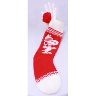 Vintage Peanuts Snoopy Red and White Hallmark Christmas Stocking 1958 original tag