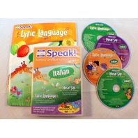 Your Baby Can Speak Italian Lyric Language 4 Disc Dvd Set Activity Book Educ Toy