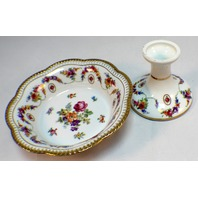 Schumann Arzberg Bavaria W. Germany Pedelstal Candy Dish and Candle Holder