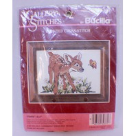 "Bucilla Fawn Baby Bambi Dear 5"" X 7""  Counted Cross Stitch 32371"