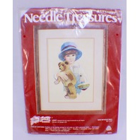 Jan Hagara Needle Treasures Needlepoint Little Boy Stitchery Jimmy New