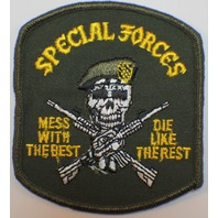 War Patch US Special Forces Mess with the Best Die Like Rest Skeleton