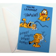 Hallmark Ambassador Greeting Card 1978 Garfield Odie Jim Davis unused w envelope