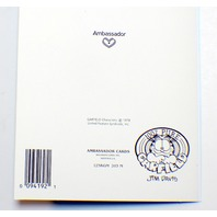 Hallmark Ambassador Greeting Card 1978 Garfield Odie Jim Davis unused w envelope
