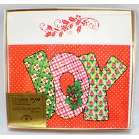 Drawing Board Greeting Cards Quilted Joy Pillows Boxed set 25 w/ envelope