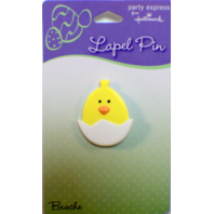 Peek a Boo Baby Chick in an Easter Egg Hallmark Hat Lapel Pin Brooch on Card