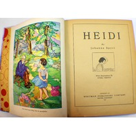 Heidi Hardback Book Copyright 1934 Spyri Whitman Publishing