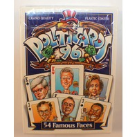 Politicards 54 Fameous Faces Sealed Package Deck of Playing Cards