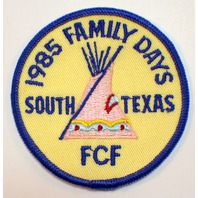 1985 Family Days South Texas FCF Royal Ranger Uniform Patch
