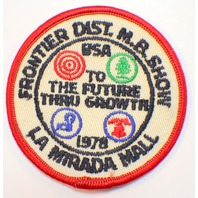 Bsa Boy Scout Uniform Patch Frontier District LA Mirada Mall Show 1978
