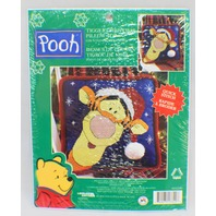 Disney Winnie the Pooh Santa Tigger Pillow Topper Kit Leisure Arts