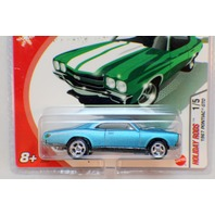 Hot Wheels 2005 Holiday Rods 1967 Pontiac GTO Rare Aquamarine Color