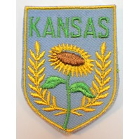Vintage Uniform State Patch Kansas Sun Flower Botanical