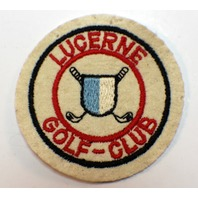 Vintage Uniform Patch Older Felt Lucerne Golf Club Quebec Canada