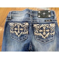Miss Me Kids Girls Sz 10 Sequin Crystal Boot Cute Blue Jeans
