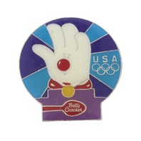 Betty Crocker Hamburger Helper Olympics USA Advertising Hat Lapel Pin