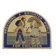 Providing a brighter World for Children Advertising Hat Lapel Pin