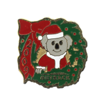 Outback Koala Christmas Holiday Time 2009 Advertisining Hat Lapel Pin