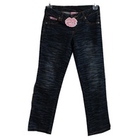 New Lipstik Lipstick Girls Zebra Blue Denim Jeans Sz 8
