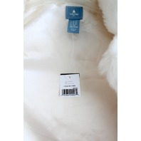 New Baby Gap sz 4 Ivory Frost Long Sleeve Fur Button Up Coat