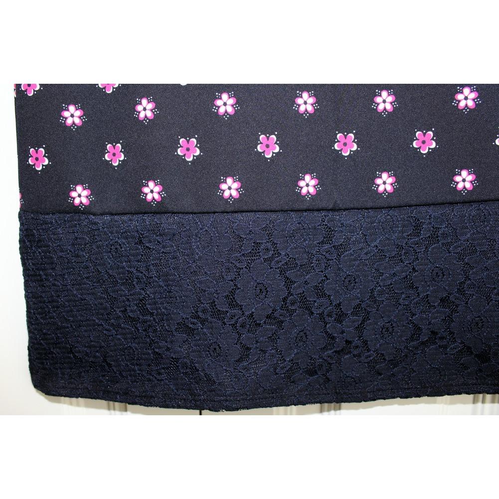 Abercrombie & Fitch A & F Girls NWT Navy Flower Lace Short Dress Sz 11/12