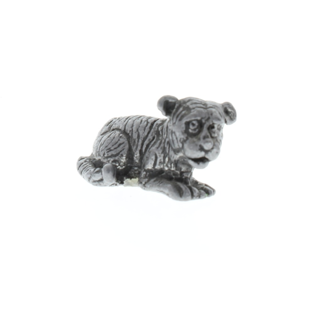 Pewter Metal Caricature of a Big Cat Tiger Cub Figurine