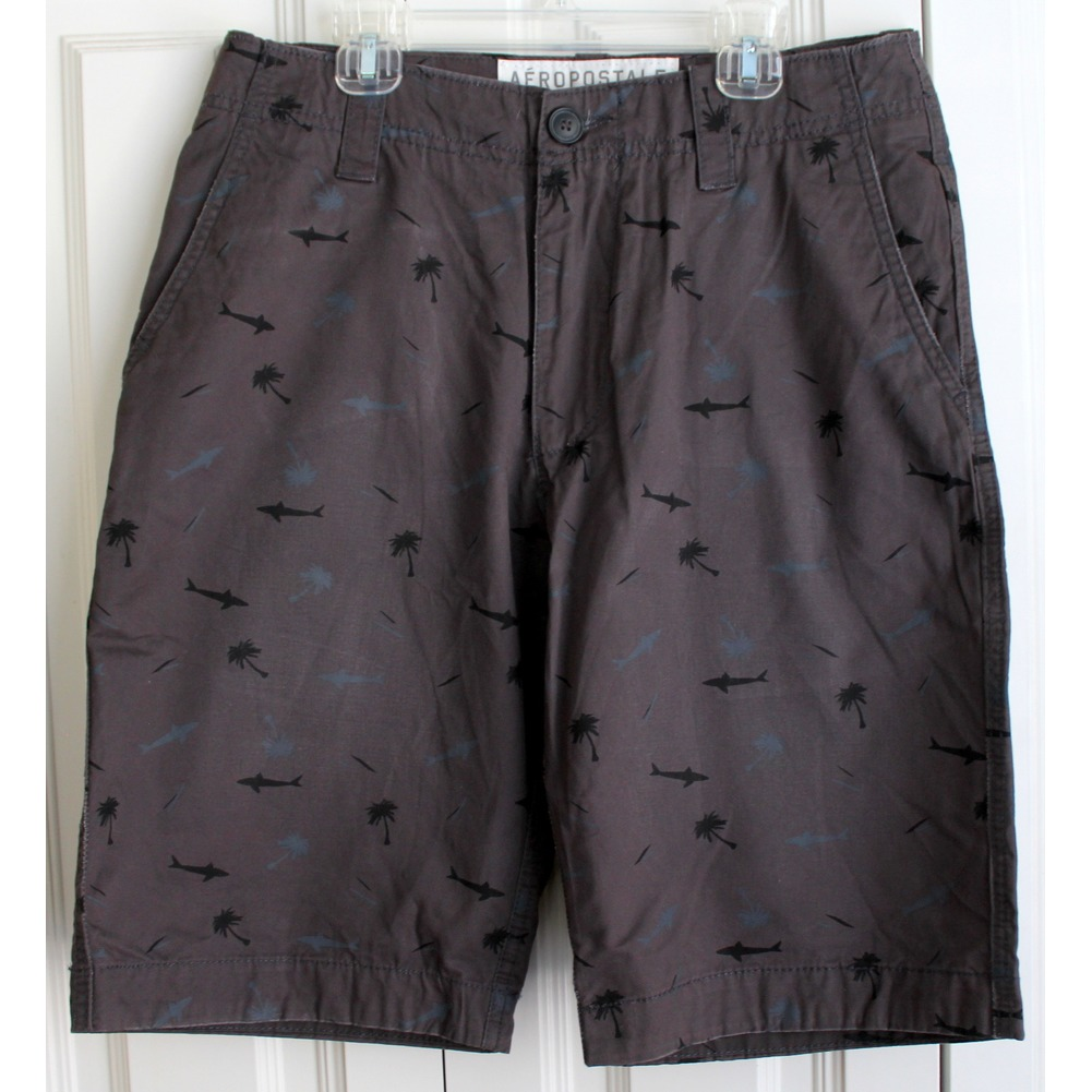 Mens Sz 28 Sharks Beach Theme Shorts