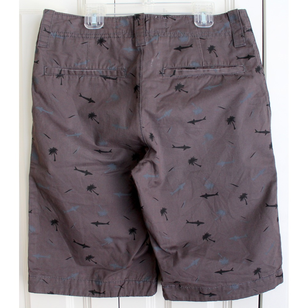 Mens Teens Sz 28 Sharks Beach Theme Shorts
