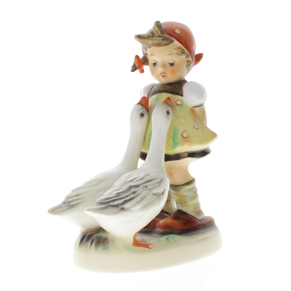 "Goebel Hummel Bashful ""Goose Girl"" 47/0 TMK 5 Porcelain Figurine"