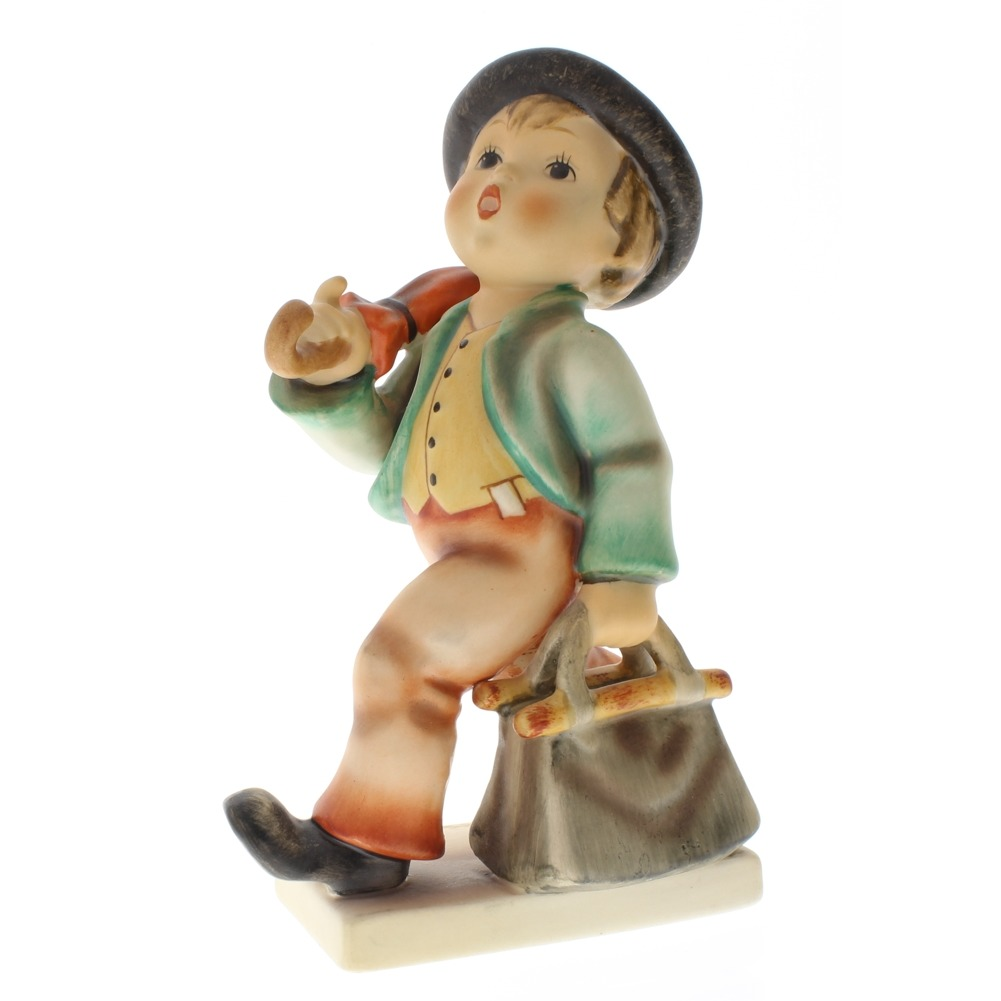 Goebel Hummel  Merry Wanderer Boy Umbrella Suitcase 7/0 TMK 5 Porcelain Figurine