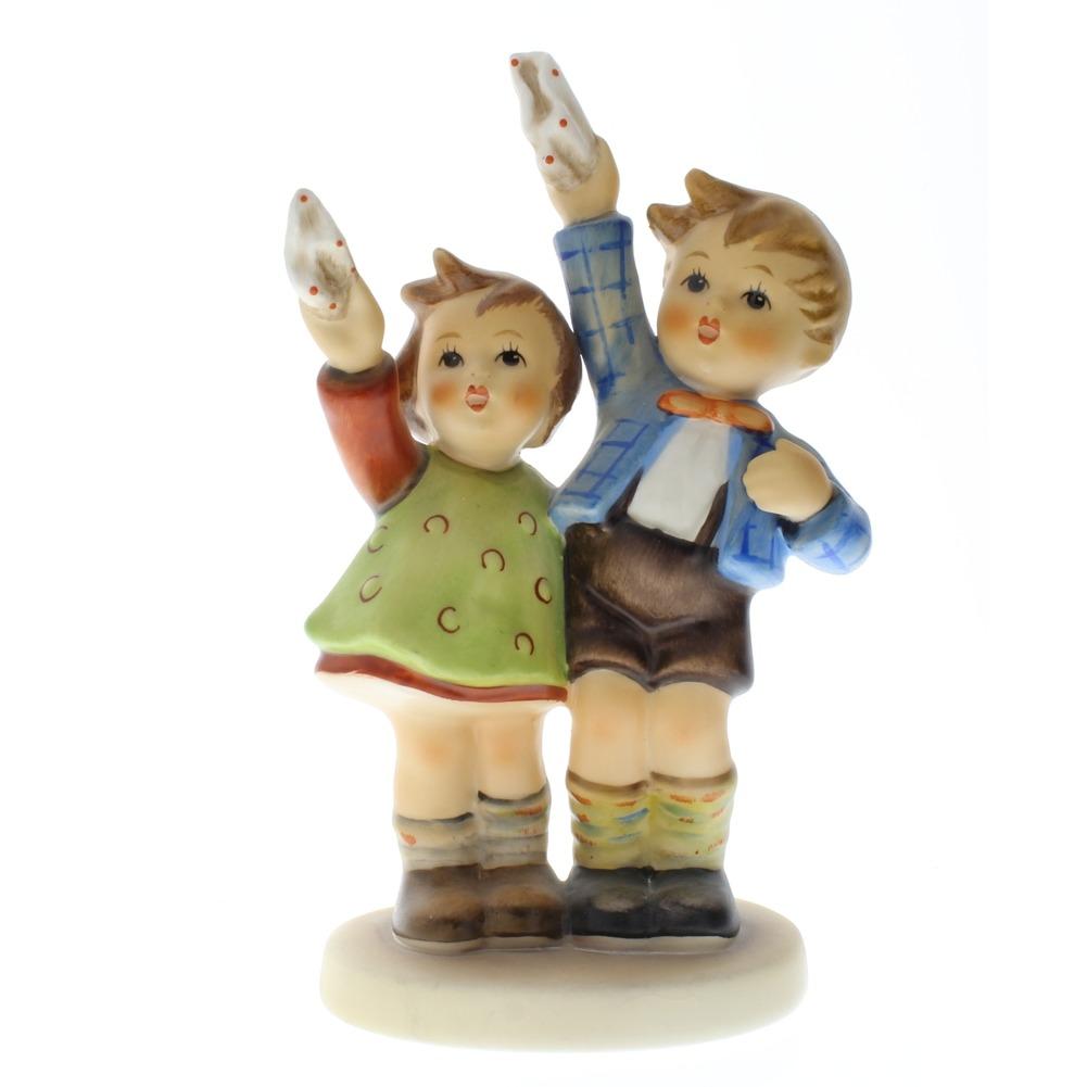 Goebel Hummel Auf Weidersehen Children Waving TMK 5 Porcelain Figurine