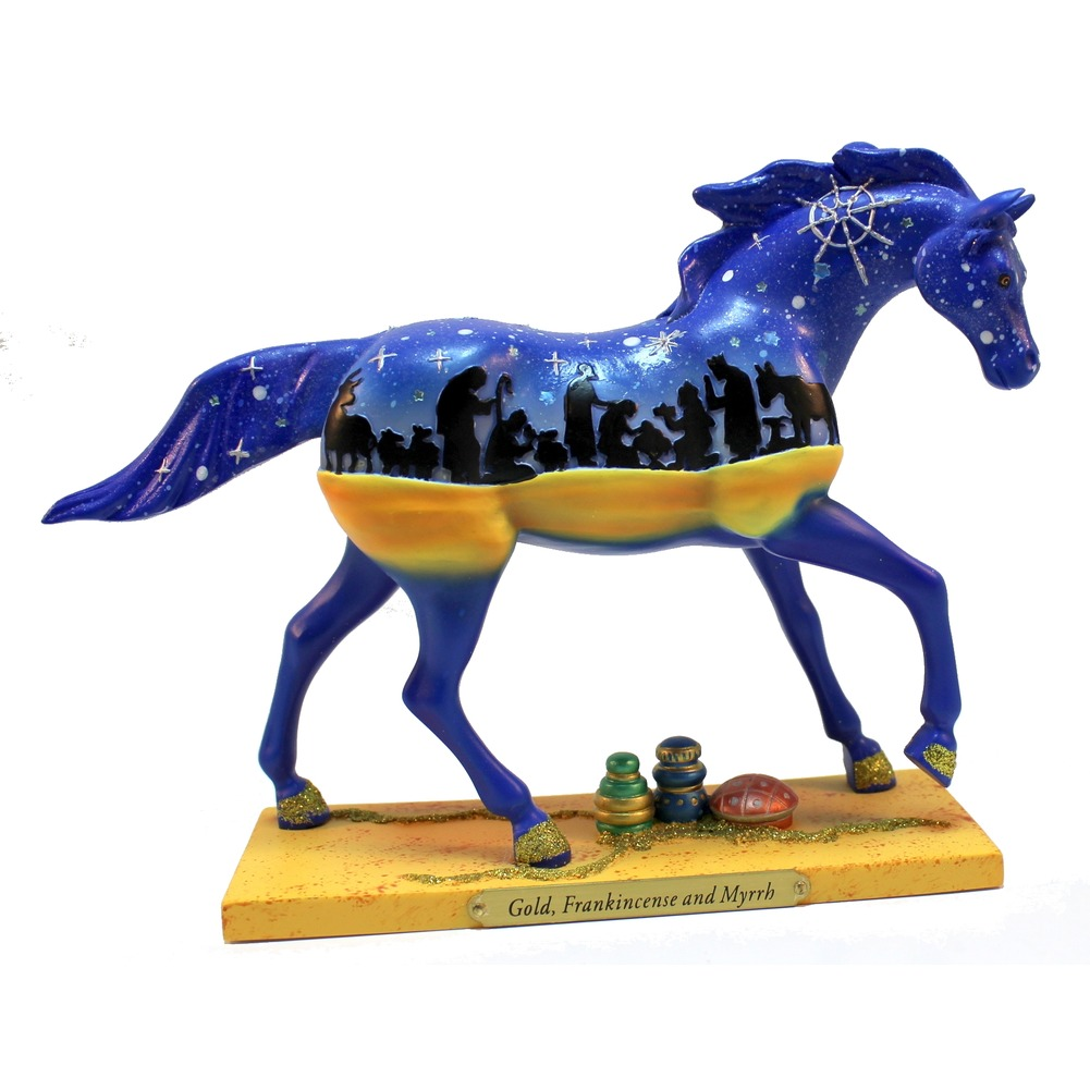 Painted Pony Figurine Gold, Frankincense and Myrrh 1st Edition 2010
