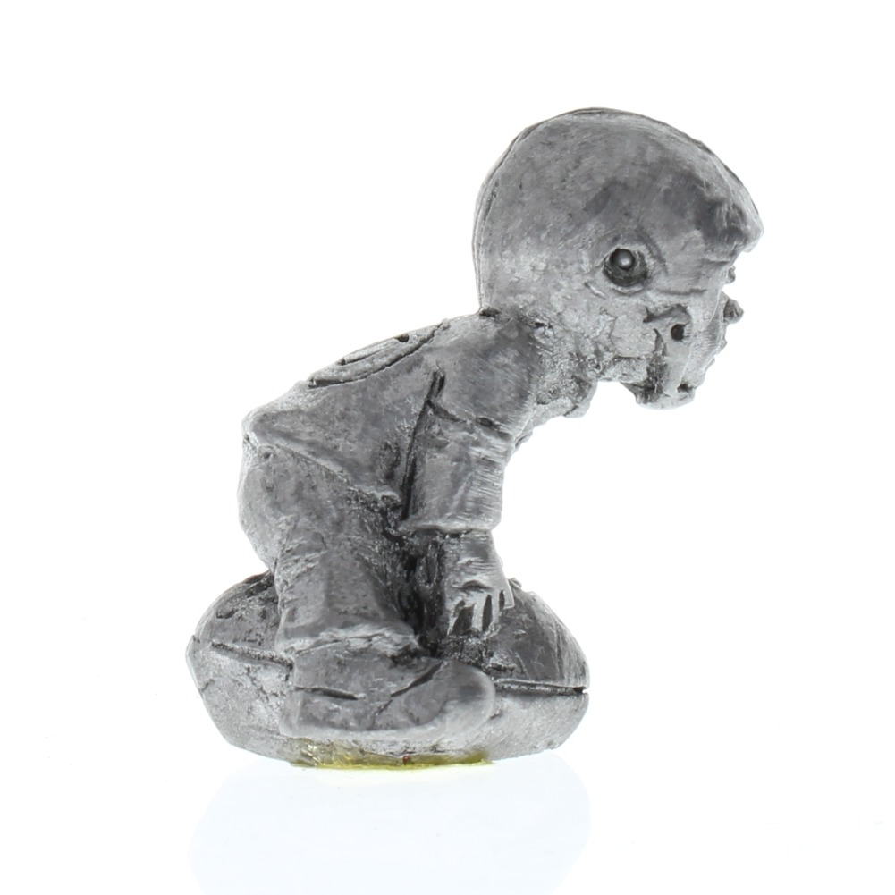 Handcrafted Solid XL Pewter Football Player Little Boy