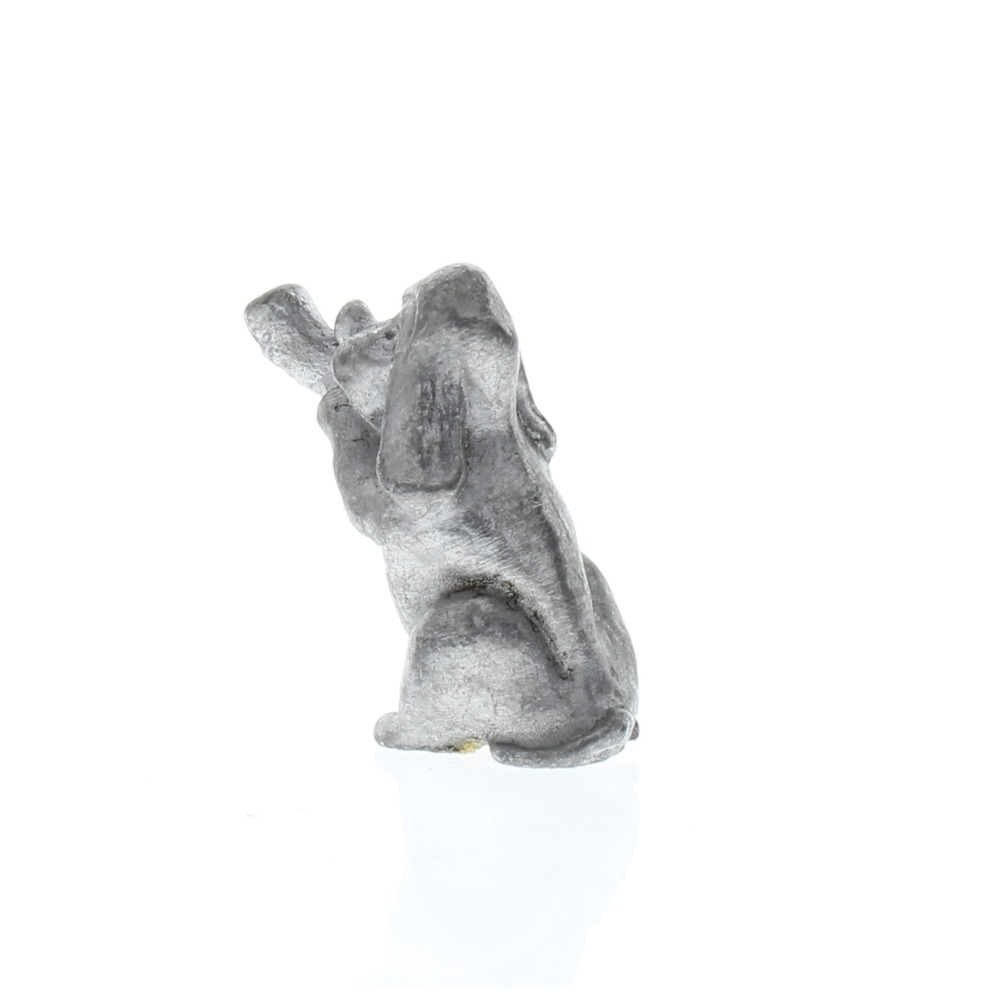 Handcrafted Solid Pewter Puppy Dog blowing on a Trumpet