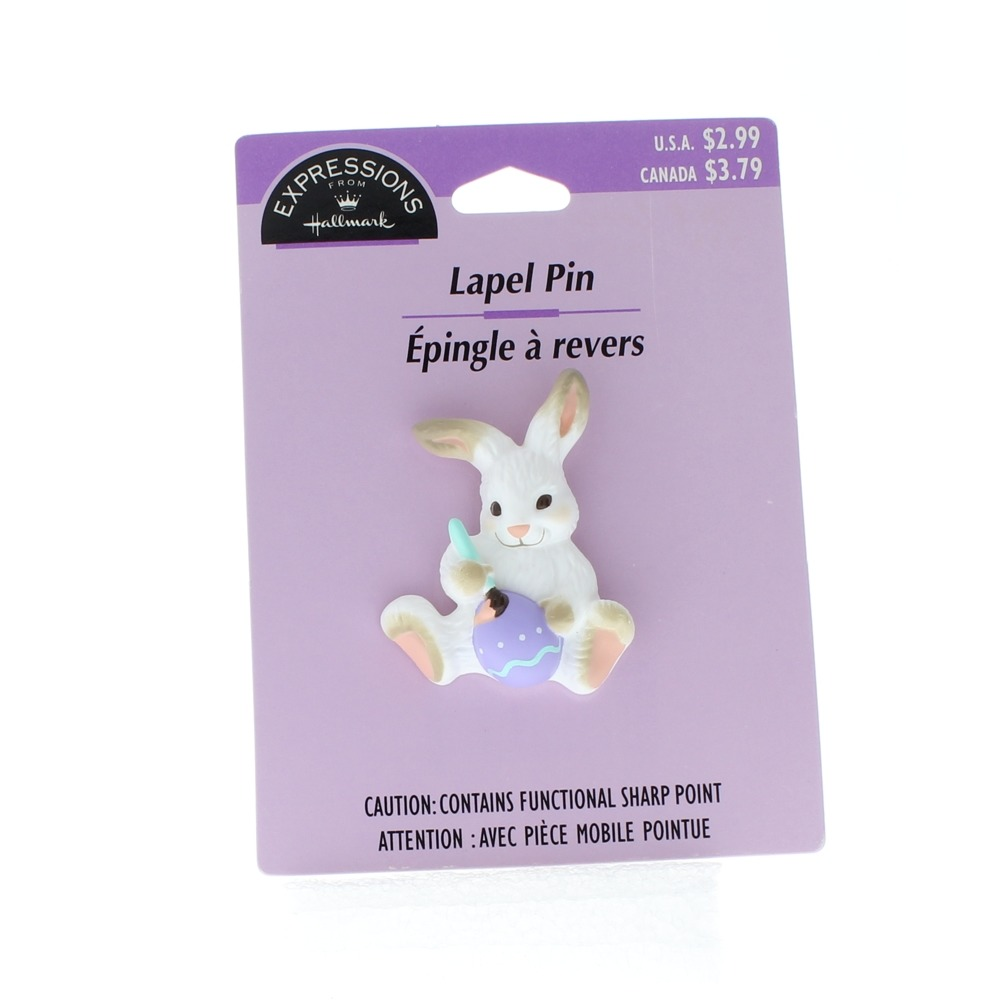 Hallmark Easter Pin Easter Bunny with Paint Brush and Egg