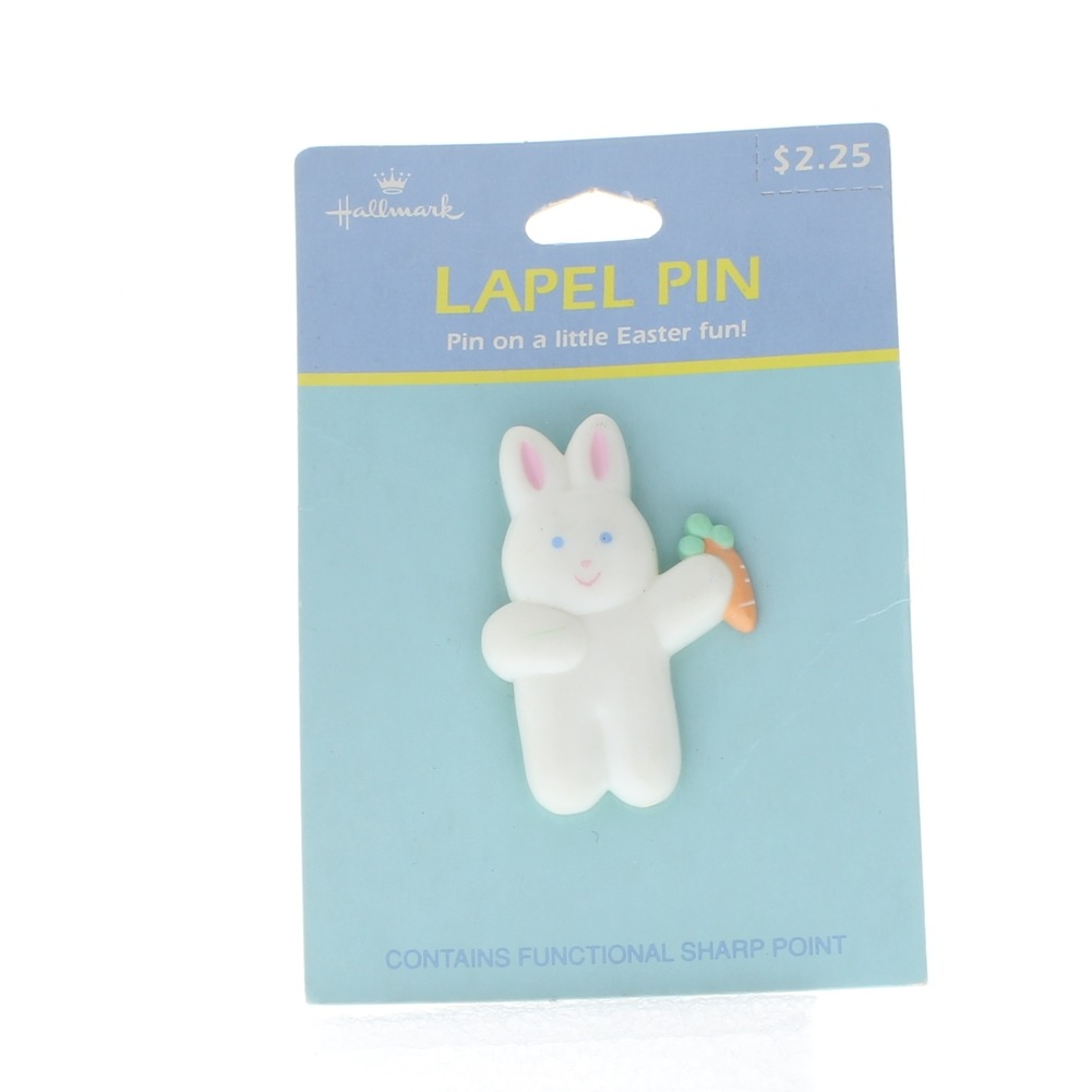 Hallmark Easter Pin Easter Bunny Rabbit Holding a Carrot
