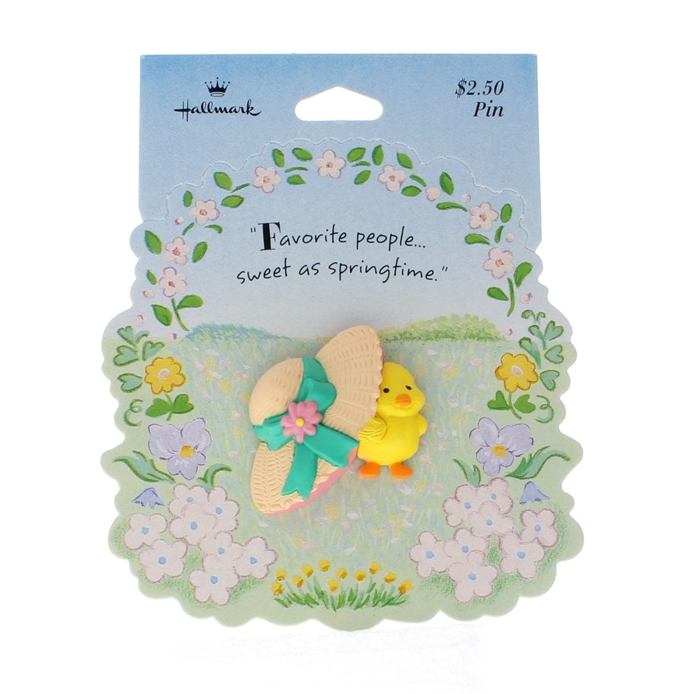 Hallmark Easter Pin Easter Baby Chic and Bonnet Hat