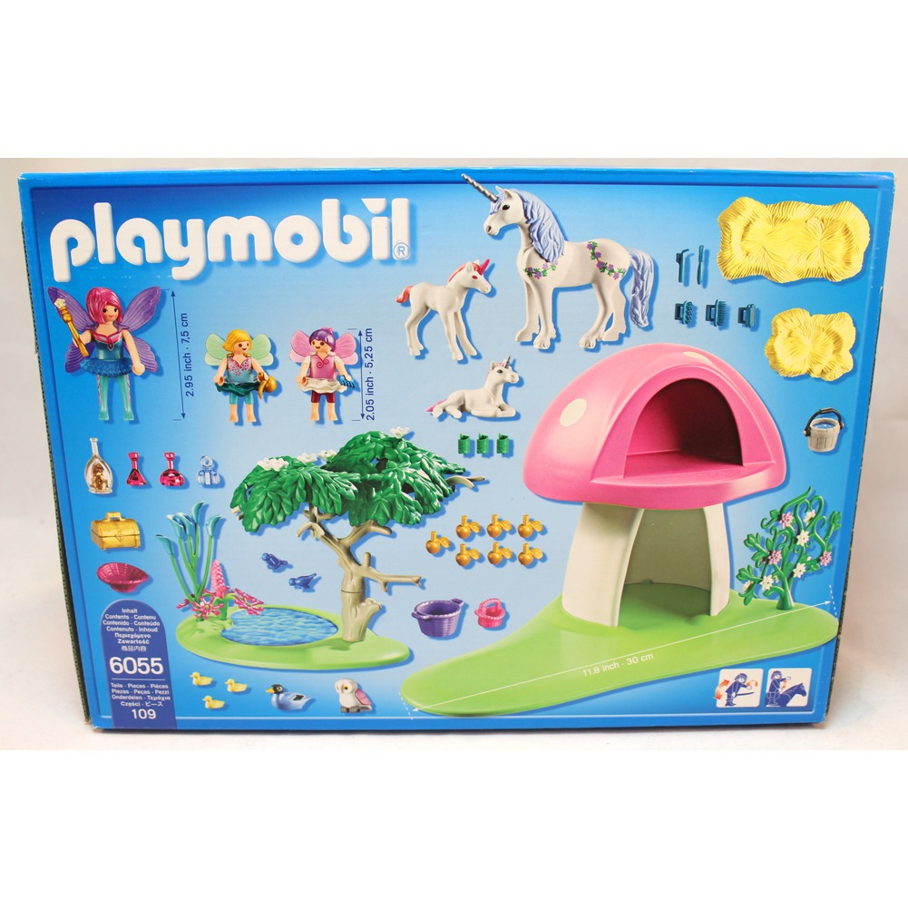 Playmobil 6055 Princess Fairies Playset with Toadstool House Fairy Toy Set