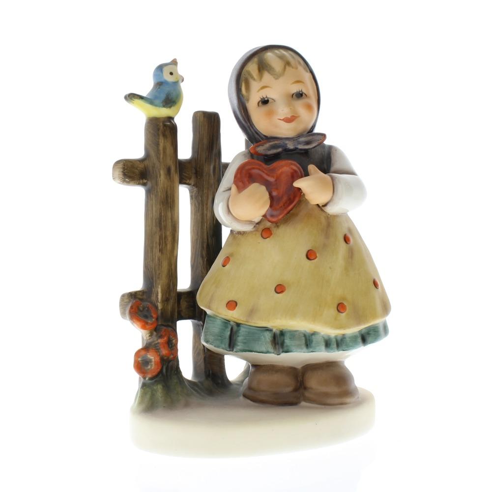 Goebel Hummel Figurine #352 Sweet Greetings TMK 6 Girl with a Heart Germany