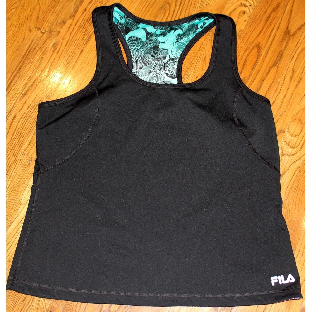 Women's XL Fila Athletic Set Reversible Top & Black Shorts