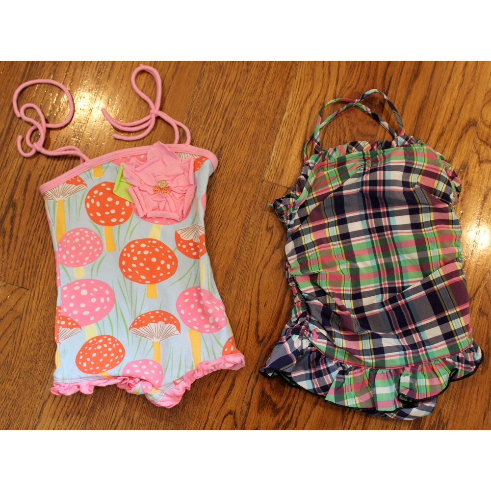 Baby Girl Lot 2 Swimsuits Sz 18 Mo Plaid Ralph Lauren Baby Lulu