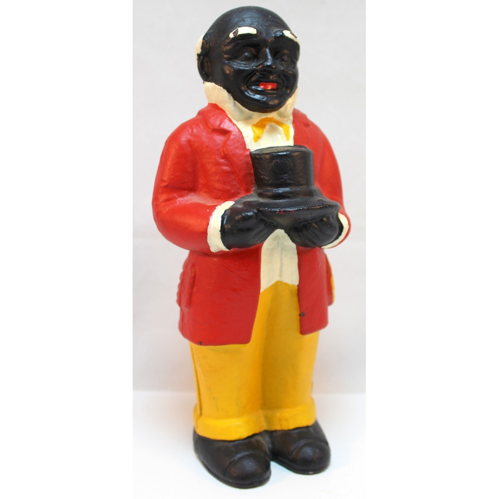 Cast Iron Painted Butler Man Still Bank Black Americana