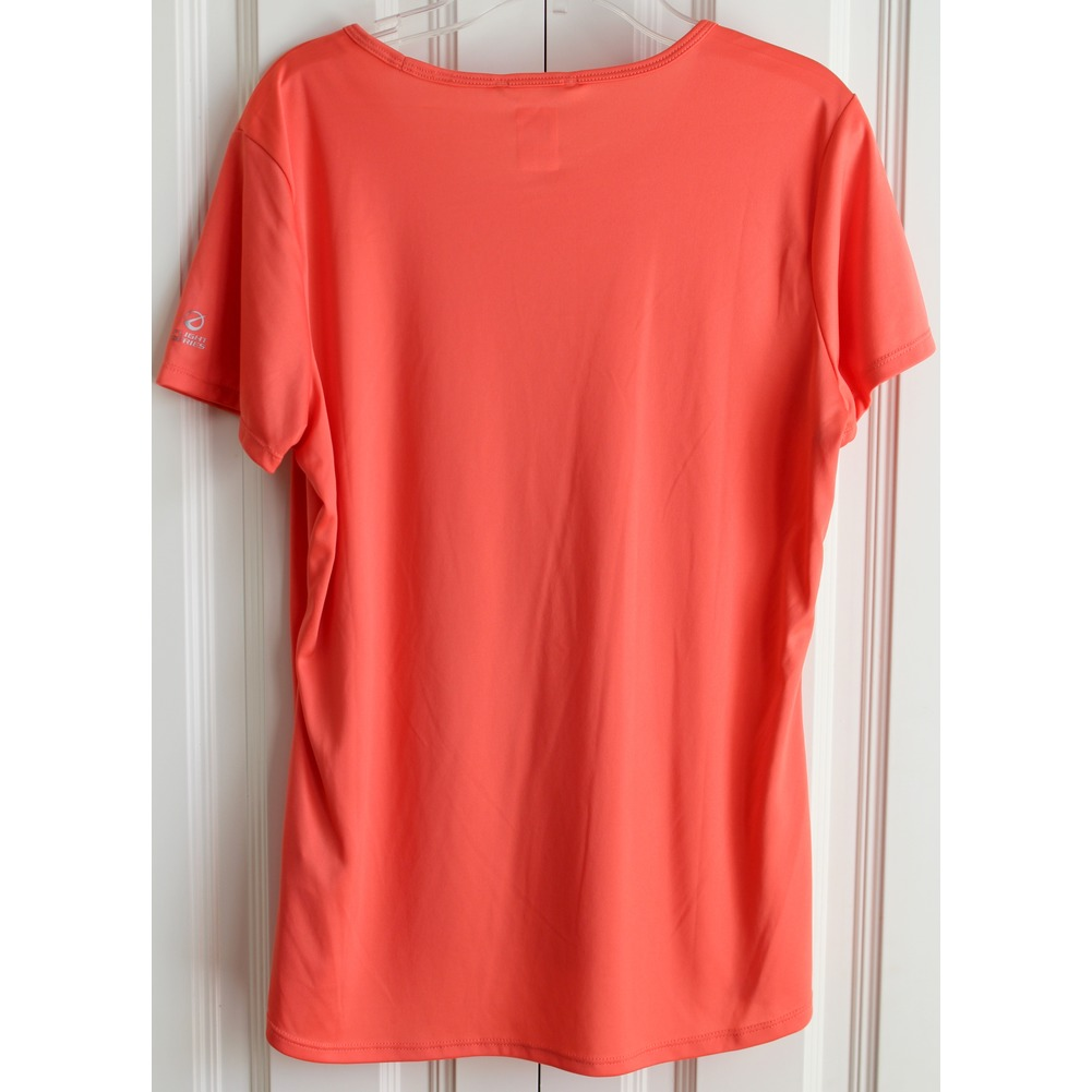 North Face Womens Sz L Orange Hi Low Polyester Flight Series Top