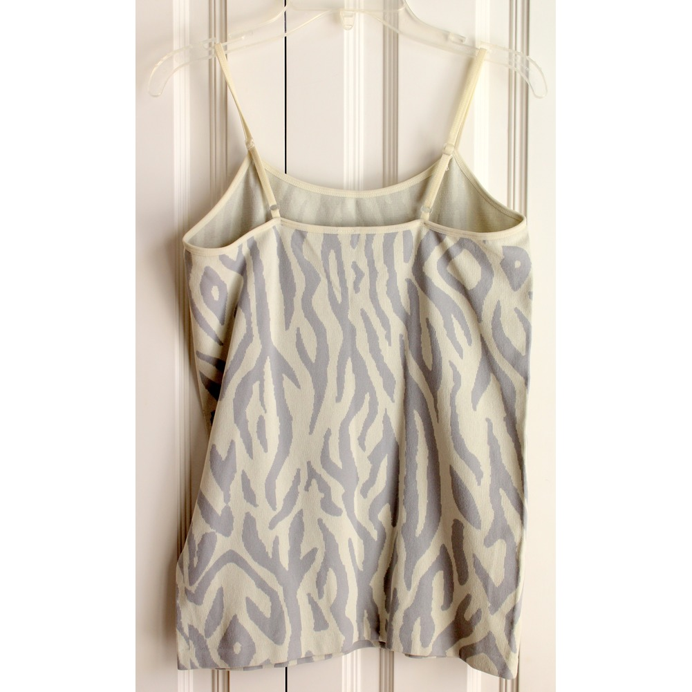 Womens Nine 1 Eight Sz L/XL Zebra Animal Print Tank Top