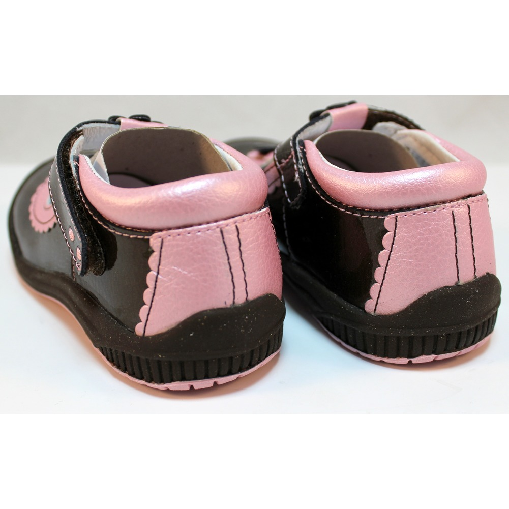 Girls Shoes Scalloped T Strip Espresso Girls Shoes Robeez 1st Step sz 8 25