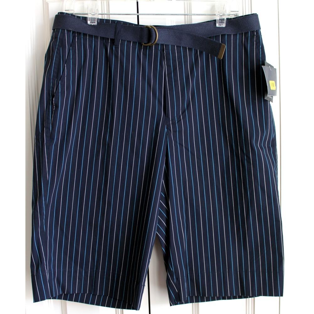 NWT Womens Liz Claiborne Sz 12 Cotton Blend Stripe Bermuda Shorts